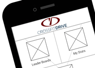 crossfitDrive Wireframe App
