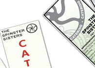 Spinster Sisters Promotional Bookmark Redesign