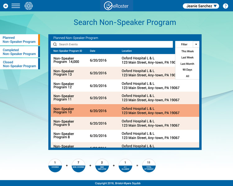 BMS Search Non-Speaker Program